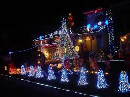 colorful lights at exterior decoration