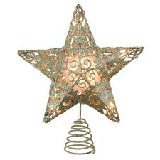 Star Christmas Tree Toppers Lighted - 11 lighted gold swirl christmas star tree topper clear lights