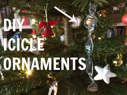 diy icicle ornaments for your chrismas tree make your own