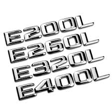 mercedes decal 3d displacement number logo sticker abs decal for mercedes e