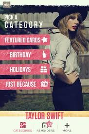taylor swift greeting cards app released just in time for