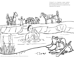 naaman and the servant coloring pages naaman the leper