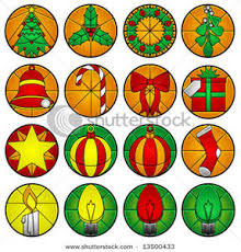 picture stained glass ornaments