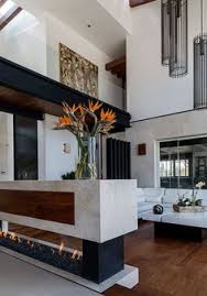 home interior design living room modern atrium house with large height space living room by