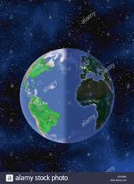 World Map At Night by Globe Of The World Showing The Solar Terminator Between Night And