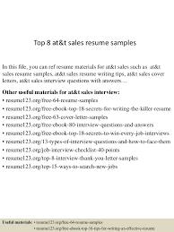 salesman resume examples top 8 at t sales resume samples