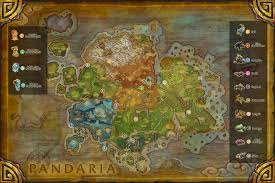 World Of Warcraft Map by Beasts Of Fable And Pandaren Spirits Map Traveling The Multiverse