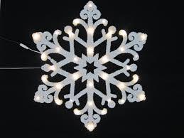 24 warm white led snowflake with