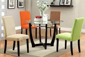 Colored Leather Dining Chairs Dining Chairs Angular And Colorful These Dining Chairs From