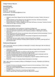 adjunct instructor resume sample sample resume for assistant professor position environmental