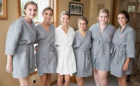 personalized waffle bridal robe with initial custom - Waffle Robes For Bridesmaids