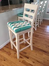 Chair Pads Sea Shore Stripe Aqua Indoor Outdoor Dining Chair Pads Barnett