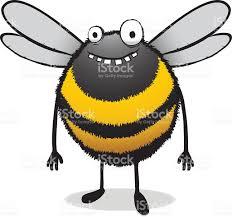 dumb bumble bee cartoon illustration stock vector art 93127490