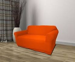 orange jersey sofa stretch slipcover couch cover chair loveseat