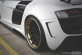 audi r8 gold prior design audi r8 rides on 24k gold brixton wheels autoevolution