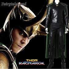 Custom Halloween Costume Aliexpress Buy Thor Ragnarok Loki Cosplay Costume