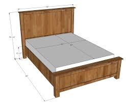 Bed Frame Plans With Drawers Bed White Platform Frame And Headboard With