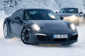 porsche 911 facelift porsche 911 turbo and 4 facelift spied auto express