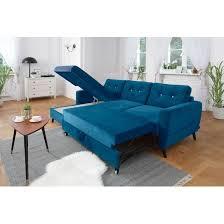 canapé d angle convertible bleu canapé d angle gauche scandi convertible coffre édition limitée bleu