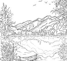 free printable coloring pages for adults landscapes this coloring images of house and trees pages beautiful printable