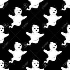 cute halloween pattern background flying cute halloween ghots in seamless pattern for seasonal