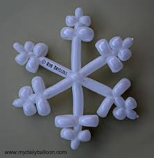 snowflake balloons party kids balloon animals how bout balloon snowflakes