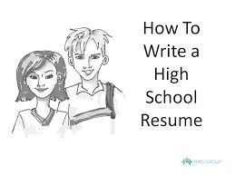 how to write a resume high example youtube