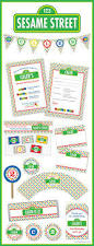 sesame street invitations template 118 best sesame street or muppets party images on pinterest
