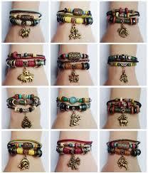 taurus colors handmade 12 zodiac sign charm hemp leather bracelet scorpio