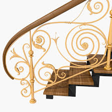 Iron Stair Banister Wrought Iron Stair Railing Model