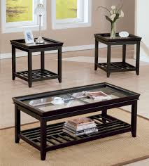 Black Living Room Tables Black Living Room Table New In Modern Stylish With Glass Top For