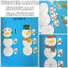 christmas tree fractions printable activity teach beside me