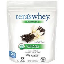 How To Get Usda Certified Tera U0027swhey Grass Fed Usda Organic Whey Protein 34 Oz