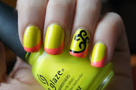 nail art cutest nails ever neon stripe nails old nail