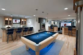 cool basements home design cool basements with bar and deep blue barstools also