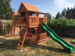 Big Backyard Replacement Parts Amazon Com Backyard Discovery Woodridge Ii All Cedar Wood Playset