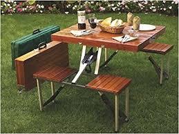 picnic table wood amazon com tailgate folding wooden picnic table portable picnic
