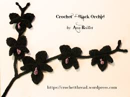 black orchid flower crochet flower black orchid crochet thread
