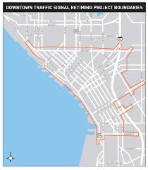 Seattle Map Downtown by Seattle Downtown Traffic Signal Re Timing Project