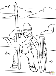 celtic warrior with spear and shield coloring page free