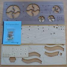 serpentine ready to assemble clock kit wooden gear clocks