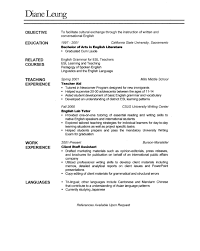 Sample Resume Objectives For Esl Teachers by Teaching Resume Writing Powerpoint