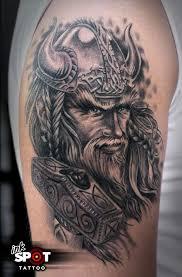 viking tattoo by max inkspot tattoomagz