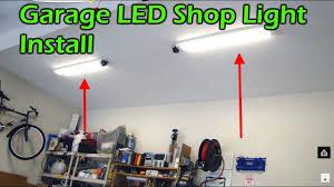 commercial electric 3ft led shop light garage led shop light fixture replaces fluorescent youtube