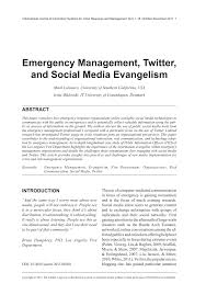 best oil ls emergency preparedness emergency management twitter and social pdf download available