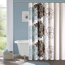 Shower Curtains White Fabric Geometric Fabric Shower Curtains White Rings Mounted Fabric
