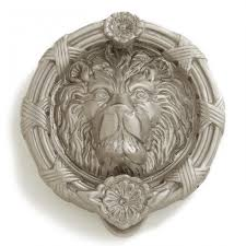felidae lion brass door knocker hardware