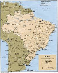map of brazil brazil maps perry castañeda map collection ut library