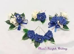 royal blue corsage wedding flowers royal blue groom guest buttonhole corsage