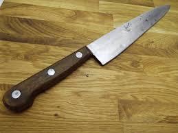 razor sharp ka bar 10 carbon steel blade usa vintage chef u0027s knife